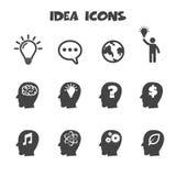 Εικονίδια ιδέας Στοκ εικόνα με δικαίωμα ελεύθερης χρήσης