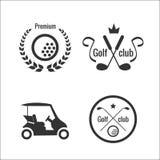 Εικονίδια και ετικέτες γκολφ διανυσματική απεικόνιση