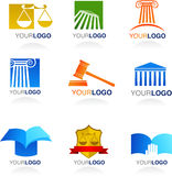 Εικονίδια και λογότυπα νόμου Στοκ εικόνες με δικαίωμα ελεύθερης χρήσης