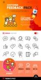 Εικονίδια και σχέδιο ανατροφοδότησης πελατών Στοκ εικόνα με δικαίωμα ελεύθερης χρήσης