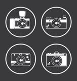 Εικονίδια καμερών Στοκ εικόνα με δικαίωμα ελεύθερης χρήσης