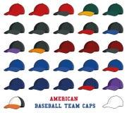 Εικονίδια καπέλων του μπέιζμπολ της American League Στοκ Φωτογραφίες