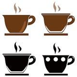εικονίδια καφέ που τίθενται Στοκ Εικόνα