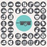 Εικονίδια καλλιέργειας καθορισμένα Απεικόνιση αποθεμάτων