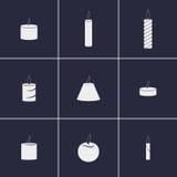 Εικονίδια κεριών Στοκ εικόνες με δικαίωμα ελεύθερης χρήσης