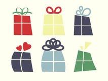 Εικονίδια κιβωτίων δώρων Στοκ εικόνες με δικαίωμα ελεύθερης χρήσης