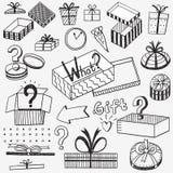 Εικονίδια κιβωτίων δώρων Στοκ φωτογραφία με δικαίωμα ελεύθερης χρήσης