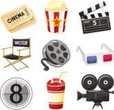 Εικονίδια κινηματογράφων κινηματογράφων ελεύθερη απεικόνιση δικαιώματος