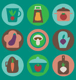 Εικονίδια κουζινών που τίθενται ελεύθερη απεικόνιση δικαιώματος
