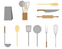 Εικονίδια κουζινών Στοκ εικόνες με δικαίωμα ελεύθερης χρήσης