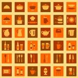 Εικονίδια κουζινών απεικόνιση αποθεμάτων
