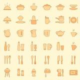Εικονίδια κουζινών ελεύθερη απεικόνιση δικαιώματος