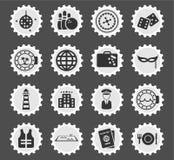Εικονίδια κρουαζιέρας απλά Στοκ εικόνες με δικαίωμα ελεύθερης χρήσης