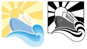 Εικονίδια κρουαζιερόπλοιων. Διανυσματική απεικόνιση συμβόλων Στοκ εικόνα με δικαίωμα ελεύθερης χρήσης