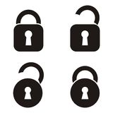 Εικονίδια κλειδαριών Στοκ Φωτογραφίες