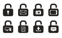 Εικονίδια κλειδαριών Στοκ εικόνα με δικαίωμα ελεύθερης χρήσης