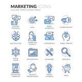 Εικονίδια μάρκετινγκ γραμμών απεικόνιση αποθεμάτων