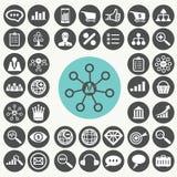 Εικονίδια μάρκετινγκ Διαδικτύου καθορισμένα Διανυσματική απεικόνιση