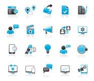 Εικονίδια μάρκετινγκ και εμπορίου Διαδικτύου διανυσματική απεικόνιση