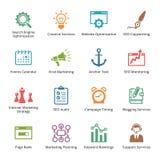 Εικονίδια μάρκετινγκ SEO & Διαδικτύου - σύνολο 5 | Χρωματισμένη σειρά Στοκ φωτογραφίες με δικαίωμα ελεύθερης χρήσης