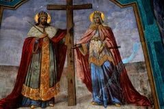 Εικονίδια μέσα στο μοναστήρι Zamfira Στοκ εικόνα με δικαίωμα ελεύθερης χρήσης