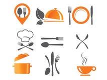 Εικονίδια μαγειρέματος και κουζινών Στοκ Εικόνες