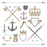 εικονίδια μεσαιωνικά Στοκ φωτογραφία με δικαίωμα ελεύθερης χρήσης