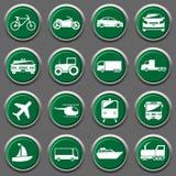 Εικονίδια μεταφορέων Στοκ φωτογραφίες με δικαίωμα ελεύθερης χρήσης