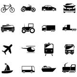 Εικονίδια μεταφορέων Διανυσματική απεικόνιση