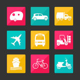 Εικονίδια μεταφορών συλλογής Στοκ εικόνα με δικαίωμα ελεύθερης χρήσης