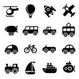 Εικονίδια μεταφορών Στοκ εικόνα με δικαίωμα ελεύθερης χρήσης