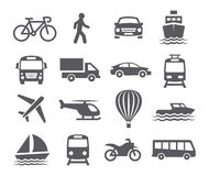 Εικονίδια μεταφορών Στοκ φωτογραφίες με δικαίωμα ελεύθερης χρήσης