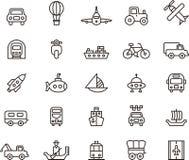 Εικονίδια μεταφορών Στοκ Εικόνες