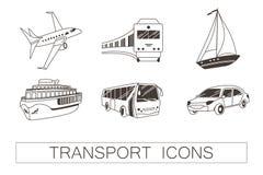 Εικονίδια μεταφορών ελεύθερη απεικόνιση δικαιώματος