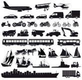 Εικονίδια μεταφορών Στοκ εικόνες με δικαίωμα ελεύθερης χρήσης