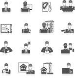 Εικονίδια μηχανικών καθορισμένα Στοκ εικόνα με δικαίωμα ελεύθερης χρήσης