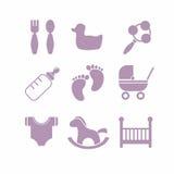 Εικονίδια μωρών καθορισμένα, Στοκ εικόνα με δικαίωμα ελεύθερης χρήσης