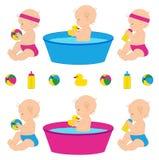 εικονίδια μωρών που τίθεν&t Στοκ Φωτογραφία