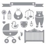 Εικονίδια μωρών Στοκ Φωτογραφίες