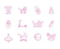 Εικονίδια μωρών Στοκ Φωτογραφία