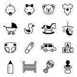 Εικονίδια μωρών Στοκ εικόνα με δικαίωμα ελεύθερης χρήσης