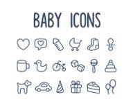 Εικονίδια μωρών Στοκ Εικόνες
