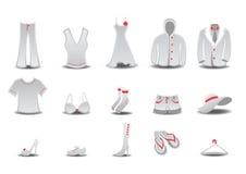 Εικονίδια μόδας Στοκ Φωτογραφίες