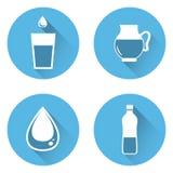 Εικονίδια νερού απεικόνιση αποθεμάτων