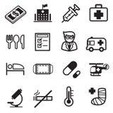 Εικονίδια νοσοκομείων Στοκ Εικόνες