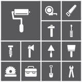 εικονίδια ξυλουργών άλλοι εργαζόμενοι εργαλείων υδραυλικών Στοκ φωτογραφία με δικαίωμα ελεύθερης χρήσης