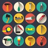 Εικονίδια οικιακών εργαλείων Στοκ εικόνες με δικαίωμα ελεύθερης χρήσης