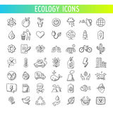 εικονίδια οικολογίας που τίθενται διάνυσμα Στοκ Φωτογραφία