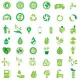 Εικονίδια οικολογίας Στοκ Εικόνες
