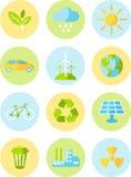 Εικονίδια οικολογίας Στοκ εικόνα με δικαίωμα ελεύθερης χρήσης